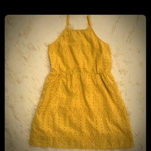Old Navy yellow eyelet dress